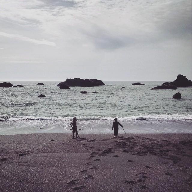 Kids at Shell Beach